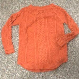 Burnt orange cotton sweater.
